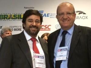 Presidente da ABM com Hugo Lembeck, novo presidente da FECAM