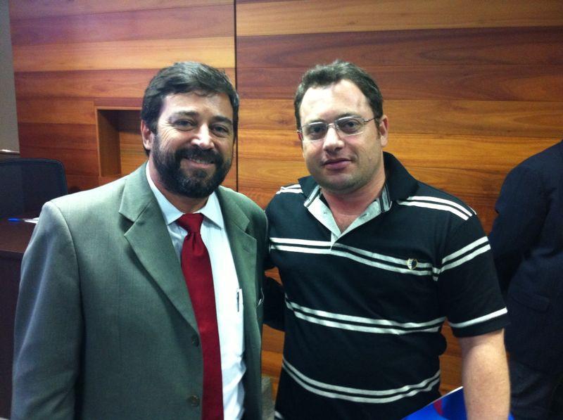 Eduardo e o prefeito de Montanha (ES)